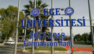 Ege Üniversitesi 2017 2018 Formasyon İlanı