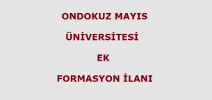 19 Mayıs Üniversitesi Ek Formasyon İlanı