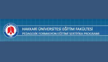 Hakkari Üniversitesi Formasyon Başvuruları 2017-2018