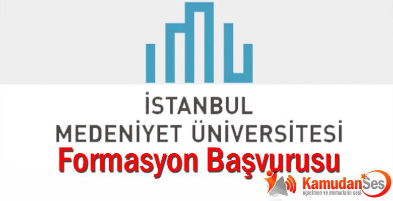 İstanbul Medeniyet Üniversitesi'nin Formasyon Başvurusu