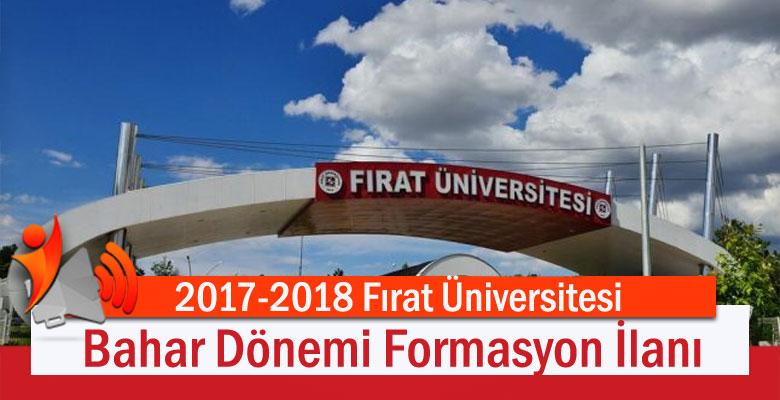 2017-2018 Fırat Üniversitesi Bahar Dönemi Formasyon İlanı