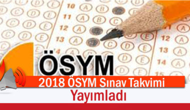 2018 ÖSYM Akademik Sınav Takvimini Yayımladı