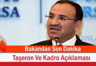Bakandan Son Dakika Taseron Ve Kadro Aciklamasi