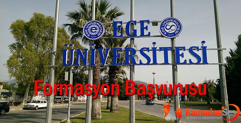 Ege Üniversitesi Yeni Formasyon Programı İle İlgili Duyuru