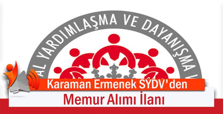 Karaman Ermenek SYDV'den Memur Alımı İlanı