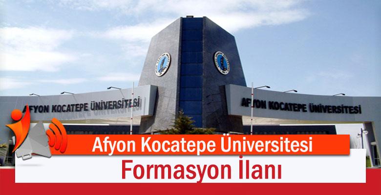 Afyon Kocatepe Üniversitesi Formasyon İlanı