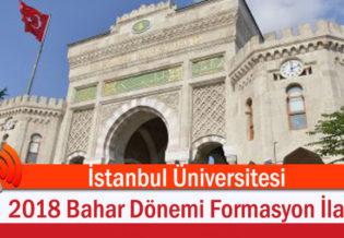 Istanbul-Universitesi-2018-Bahar-Donemi-Formasyon-Ilani