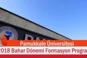 Pamukkale Üniversitesi 2018 Bahar Dönemi Formasyon Programı