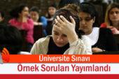 Üniversite Sınavı Örnek Soruları Yayımlandı