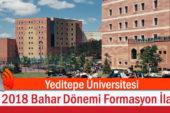 Yeditepe üniversitesi Bahar Dönemi Formasyon İlanı