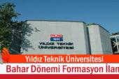 Yıldız Teknik Üniversitesi Bahar Dönemi Formasyon İlanı