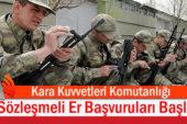 Kara Kuvvetleri Komutanlığı Personel Alımına Başladı