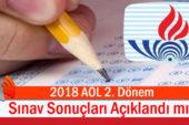 2018 AÖL 2. Dönem Sınav Sonuçları