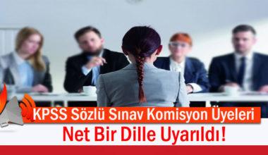 MEB'den Sözlü Sınav Komisyon Üyelerine Önemli Talimat!